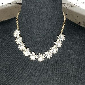 J. Crew Clear Multi Crystal Necklace